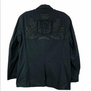 Marc Ecko cut & sew casual pinstripe sport coat